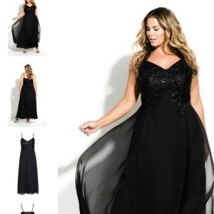 City Chic Black Divine Maxi Dress